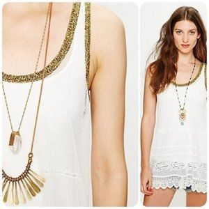 Free People Beach Lace Coverup Slip Dress